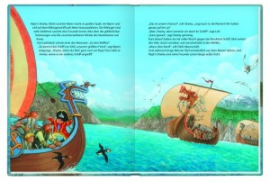 """Innenansicht aus dem Buch """"Käpt'n Sharky bei den Wikingern"""""""
